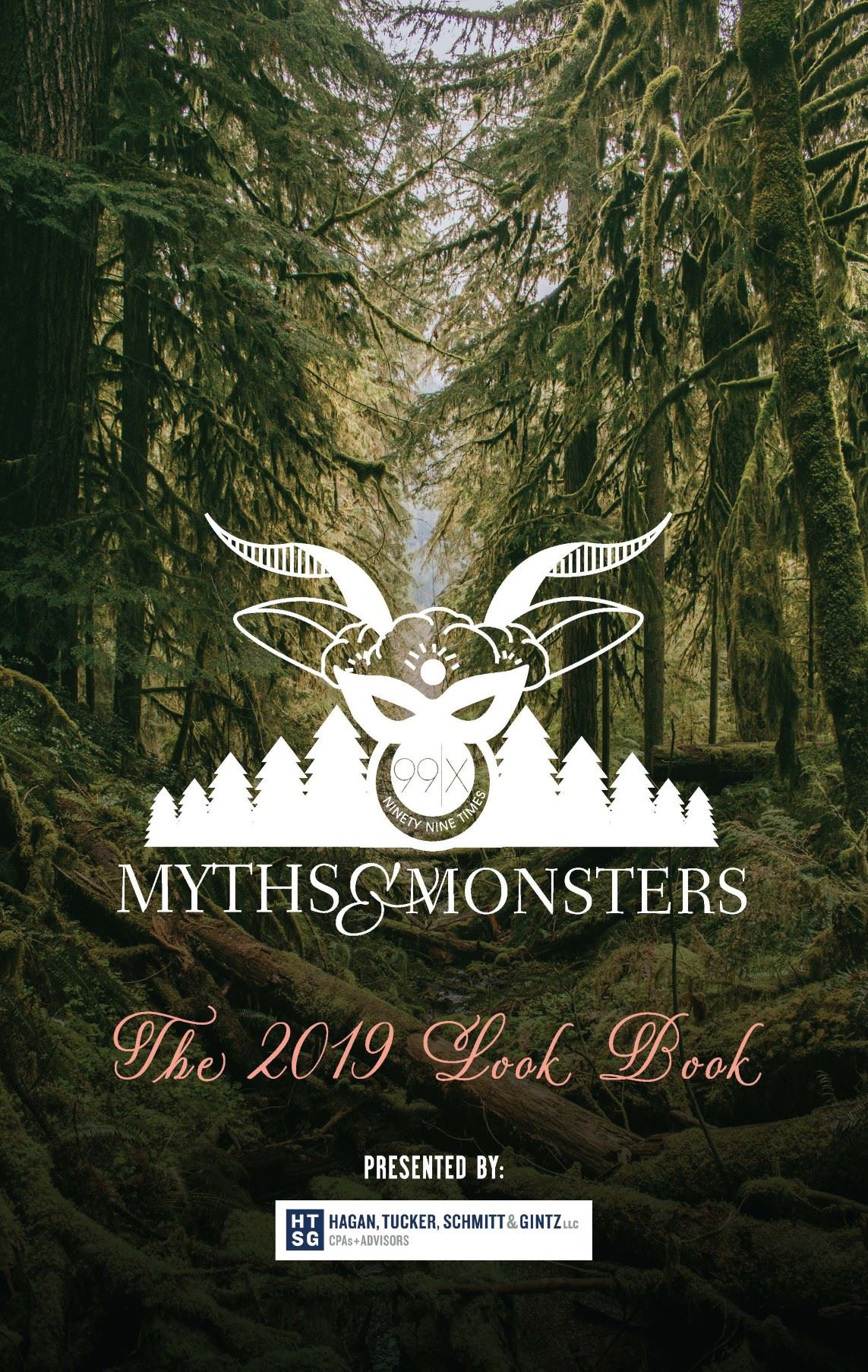 99x Myths and Monsters Look Book Cover featuring a woodland scene