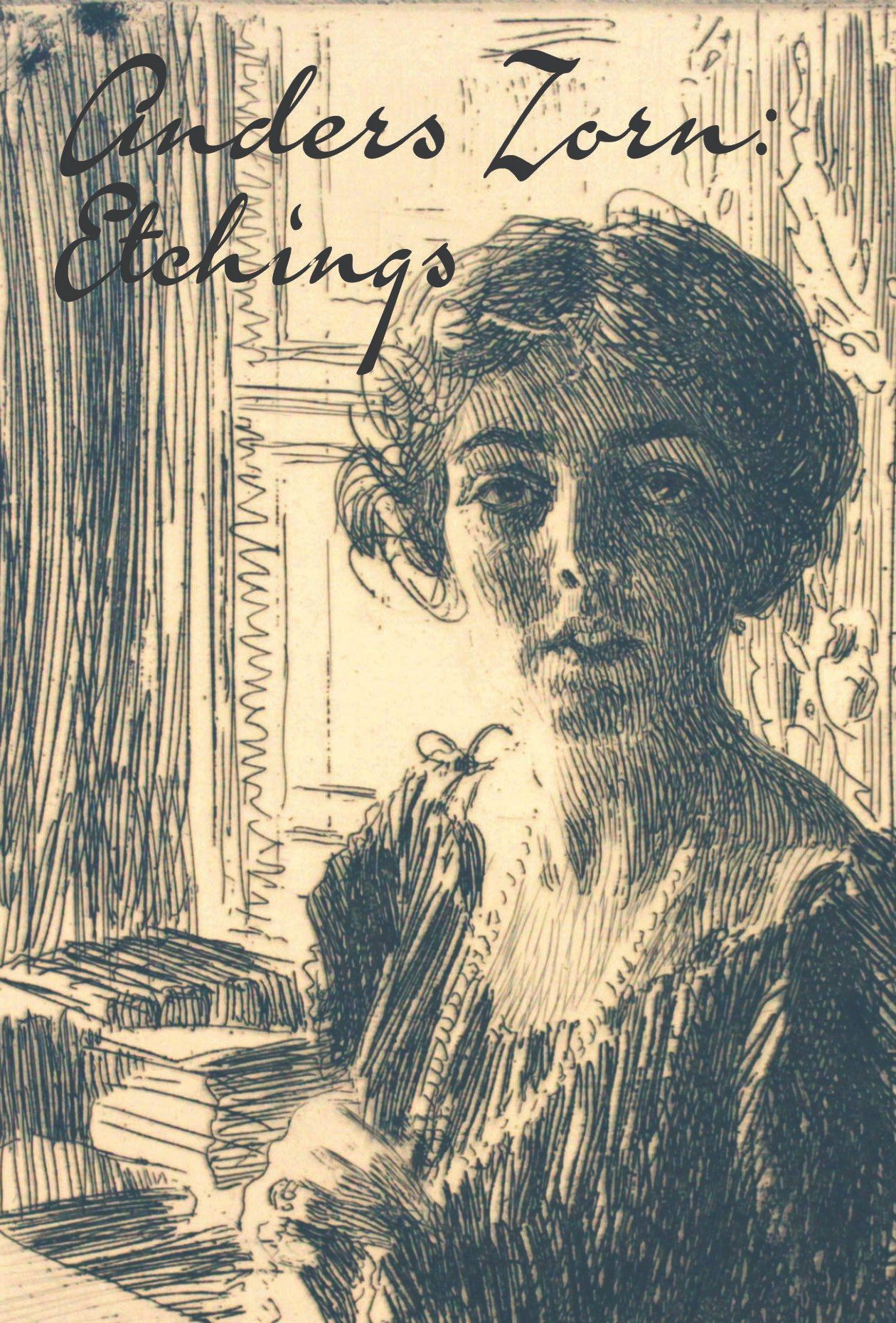 Anders Zorn Etchings identity featuring a portrait of the Crown Princess Margaret of Sweden
