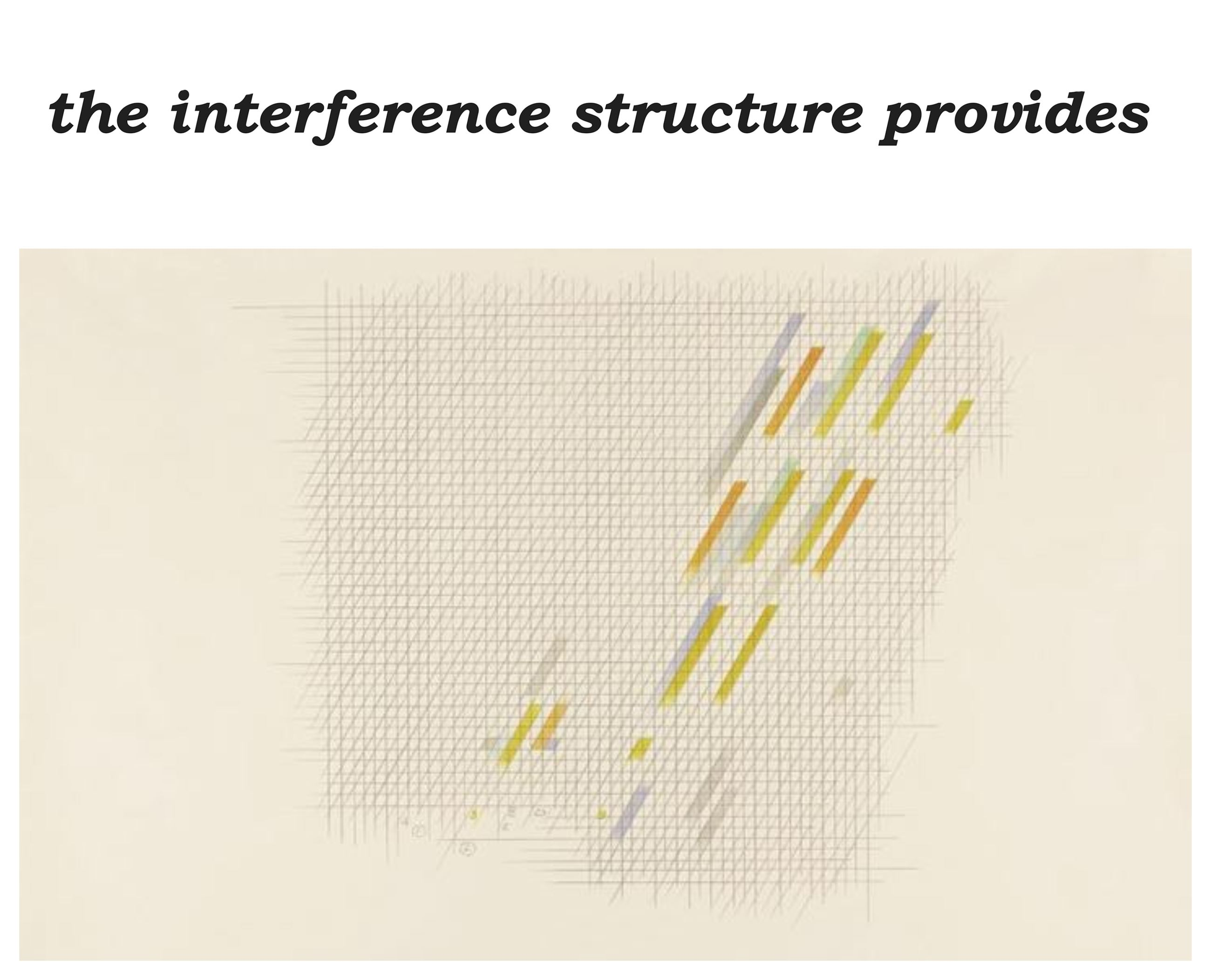 the interference structure provides identity
