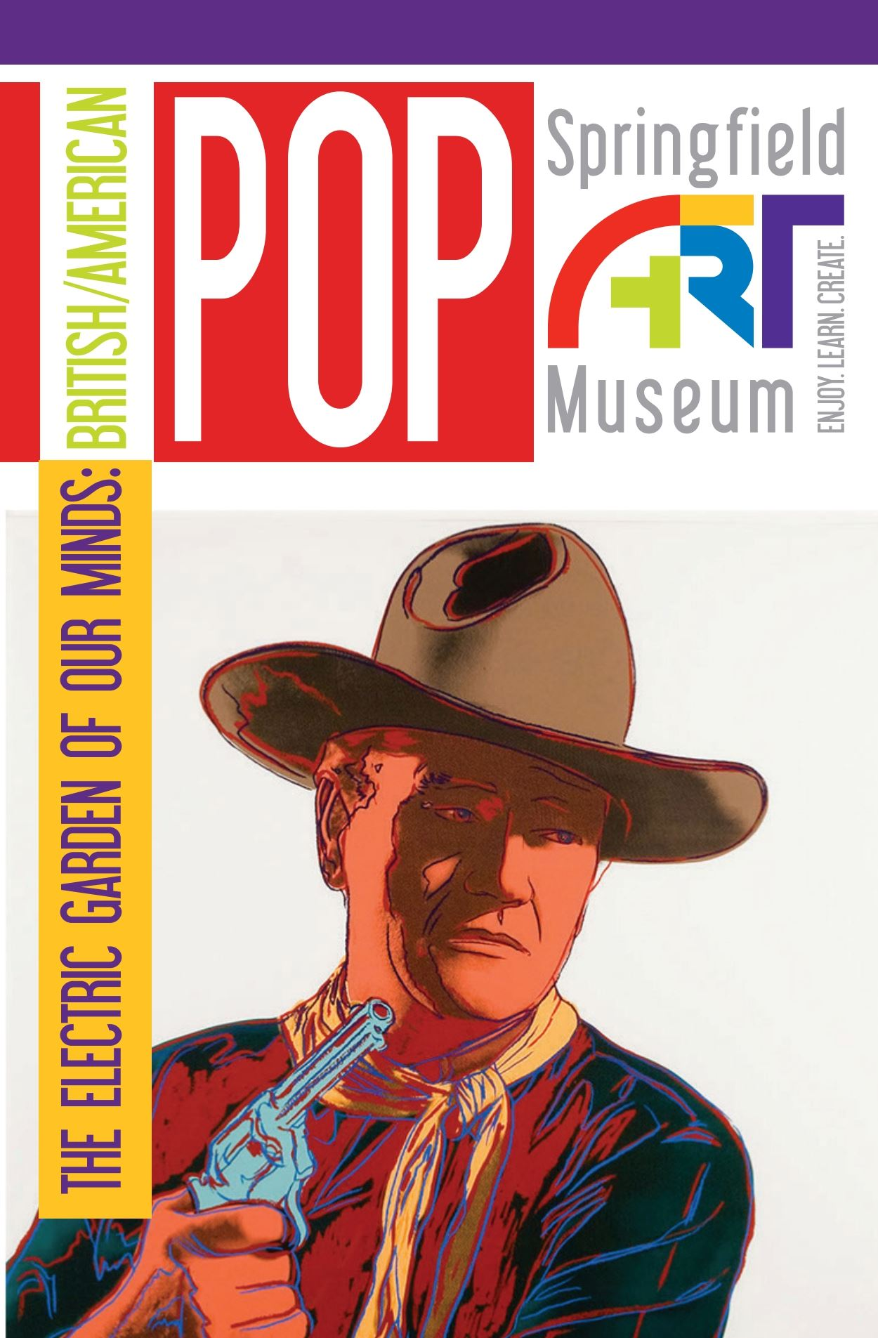 Andy Warhol's bold, colorful portrait of John Wayne
