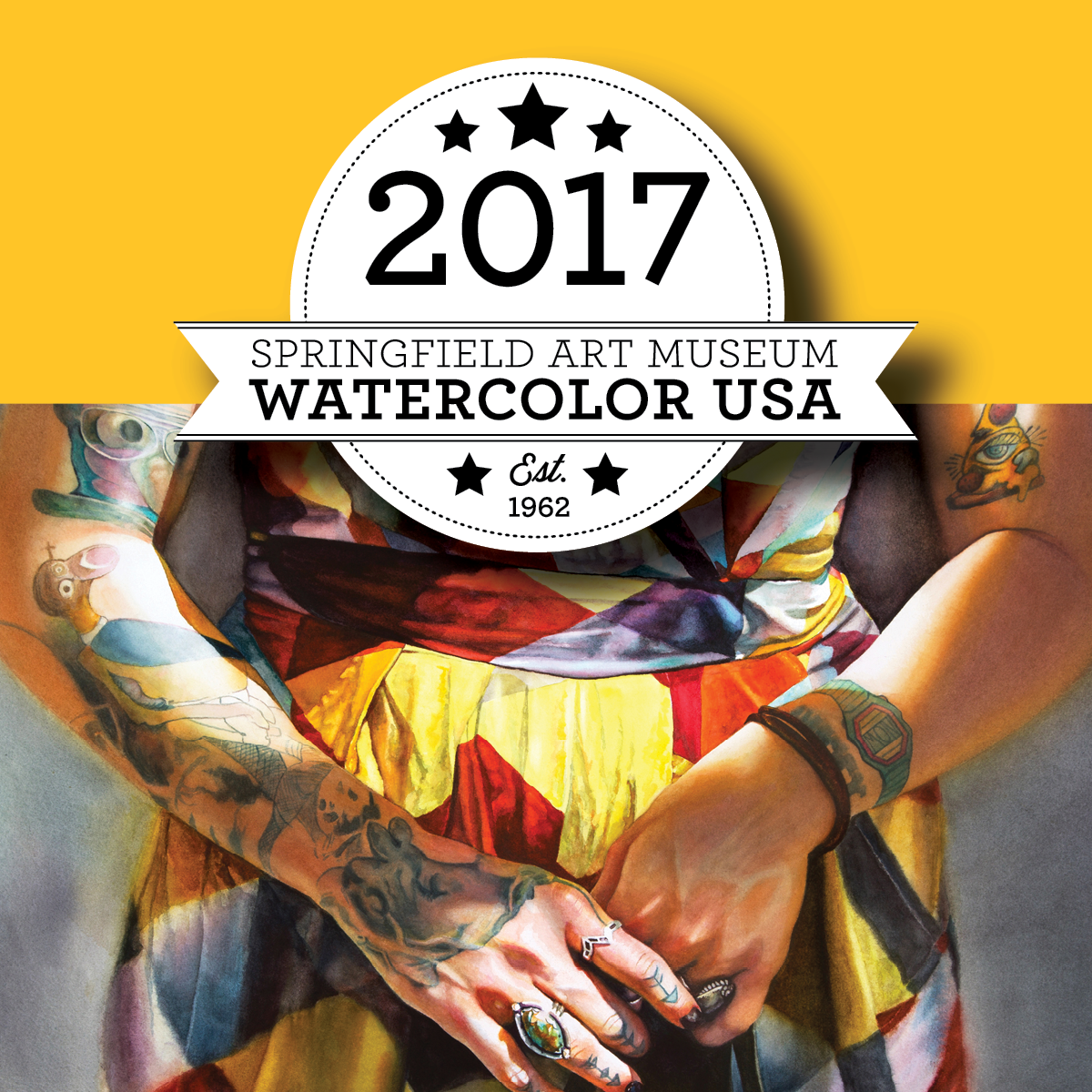 Watercolor USA 2017 Square Identity