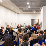 Members of St. Mark's Square Chamber Music group perform in a Museum gallery.