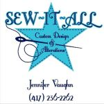 Sew It All By J logo featuring a blue star with a needle pulling thread